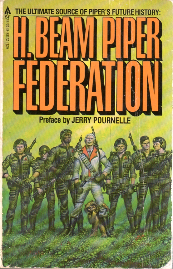 Federation by H. Beam Piper, original Ace edition cover illustration by Michael Whelan, 1981