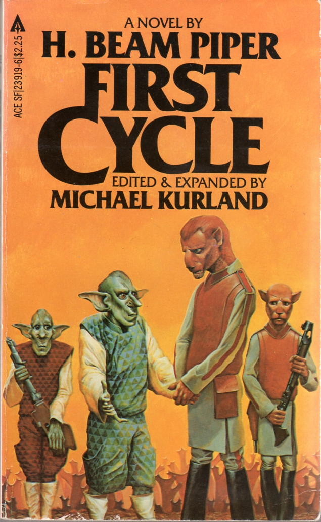 First Cycle by H. Beam Piper with Michael Kurland, original uncredited Ace edition cover illustration, 1982