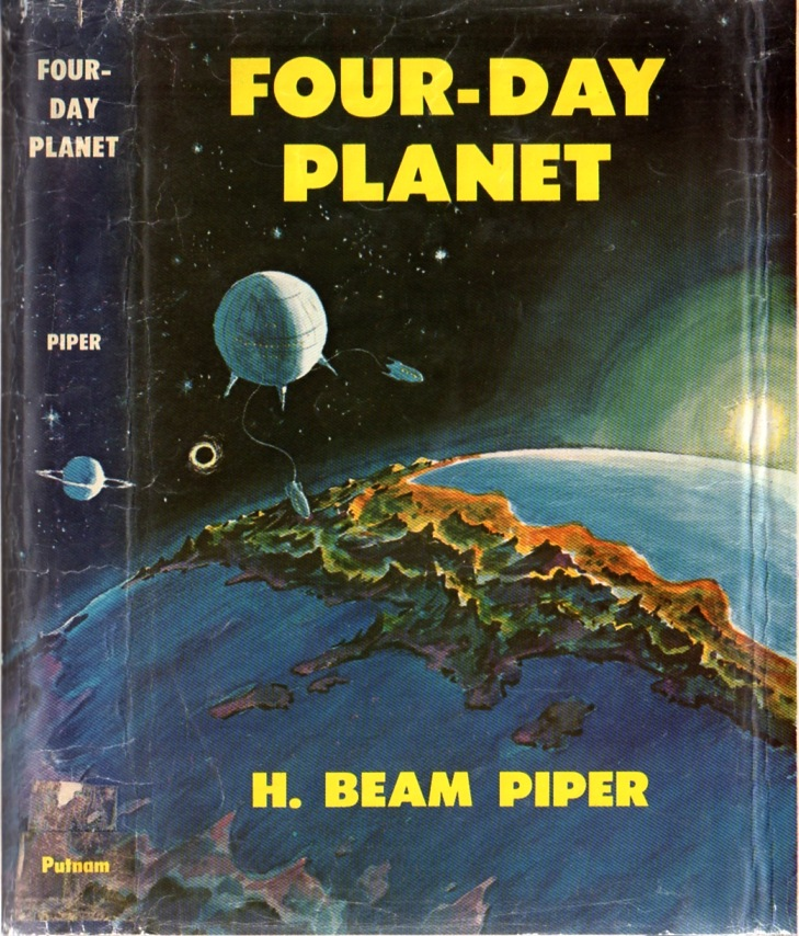 Image - Four-Day Planet by H. Beam Piper, original Putnam edition dust jacket illustration by Charles Geer (1961)