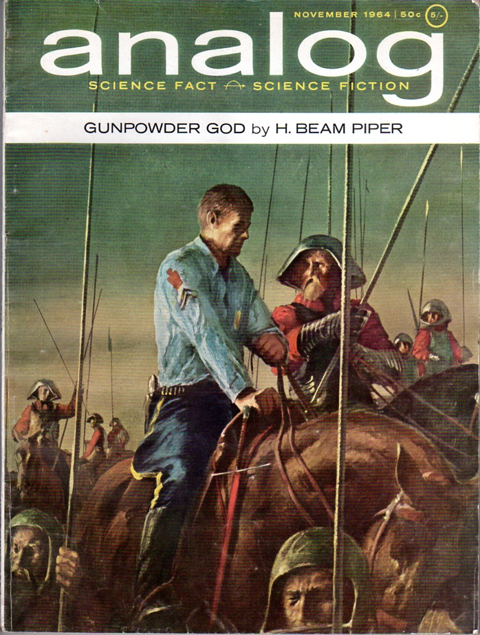 Gunpowder God by H. Beam Piper, original Analog edition cover illustration by John Schoenherr, 1964