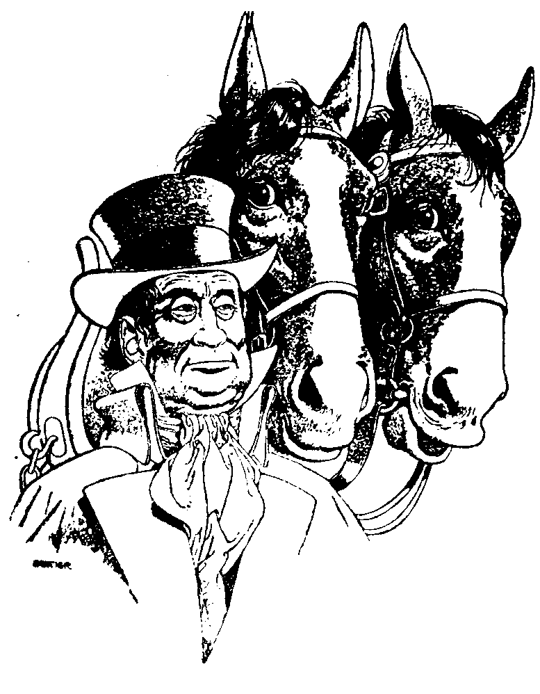 Image - He Walked Around the Horses by H. Beam Piper, original Astounding interior illustration by Edd Cartier, 1948