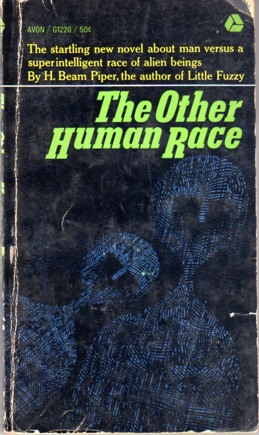 The Other Human Race by H. Beam Piper, uncredited original Avon edition cover illustration, 1964
