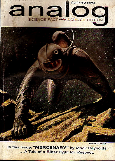 A Slave is a Slave by H. Beam Piper, unrelated original Analog edition cover illustration, 1962