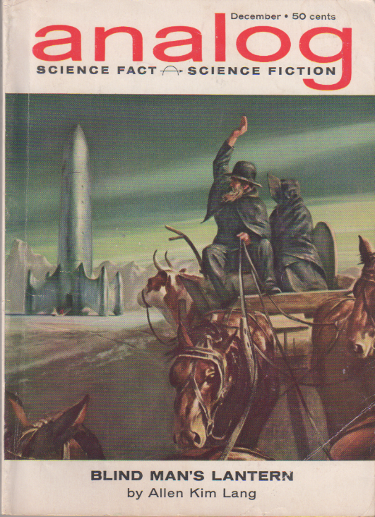 Space Viking by H. Beam Piper, unrelated original Analog edition cover illustration, 1962