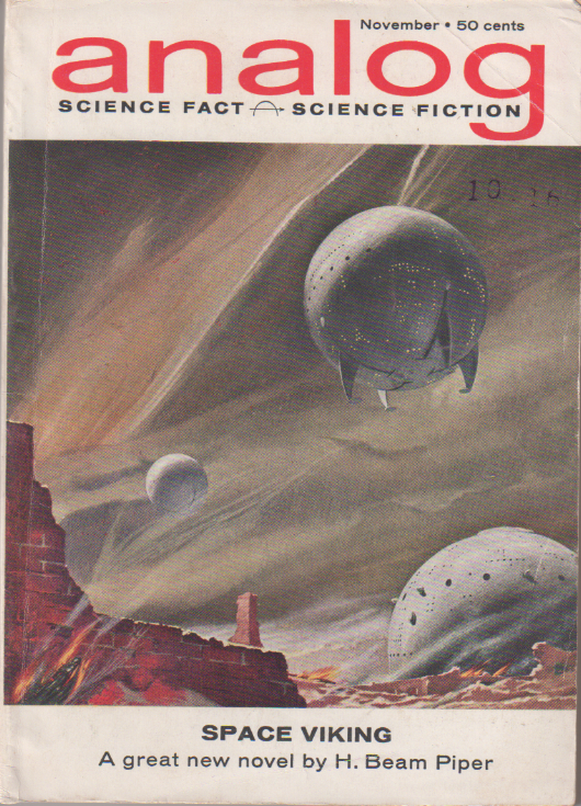 Space Viking by H. Beam Piper, original Analog edition cover illustration by John Schoenherr, 1962