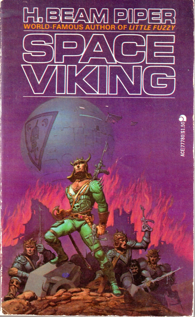 Space Viking by H. Beam Piper cover illustration by Michael Whelan, 1977